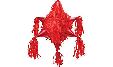 Red 8-Point Star Pinata