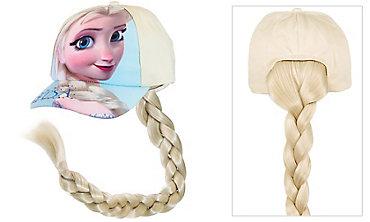 Child Frozen Elsa Baseball Hat with Ponytail