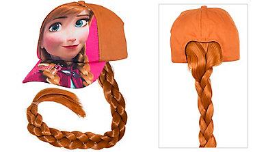 Child Frozen Anna Baseball Hat with Ponytail