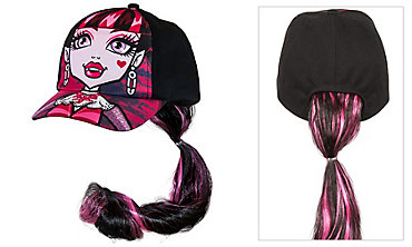 Child Monster High Draculaura Baseball Hat with Ponytail
