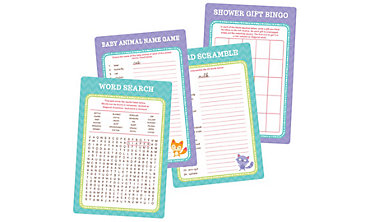 Baby Shower Game Kit for 20 - Woodland