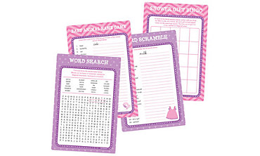 Girl Baby Shower Game Kit for 20 - Shower With Love