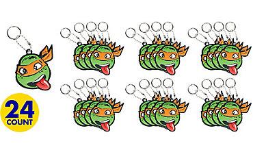 Michelangelo Keychains 24ct - Teenage Mutant Ninja Turtles