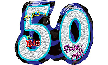 Foil Oh No the Big 50 Number Balloon 27in