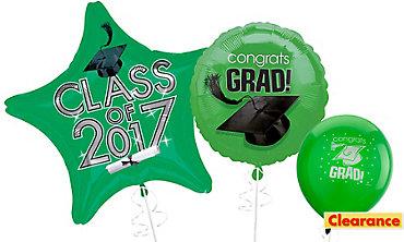 Green Graduation Balloons