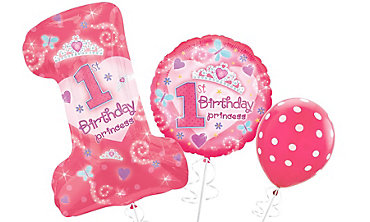 1st Birthday Princess Balloons