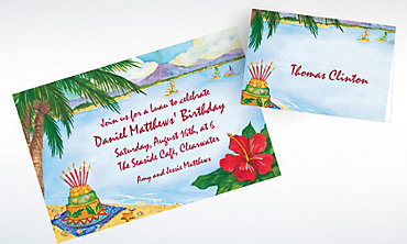 Custom Luau Birthday Invitations & Thank You Notes