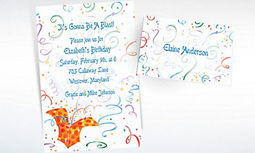 Custom Exploding Present Invitations & Thank You Notes