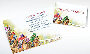 Custom Racehorses Invitations & Thank You Notes