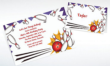 Custom Strike! Invitations & Thank You Notes