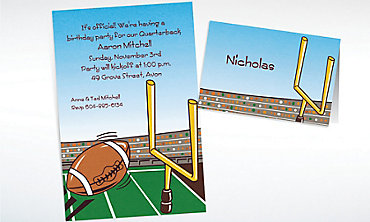 Custom Field Goal Invitations & Thank You Notes