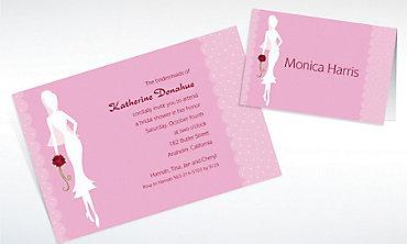 Custom Sassy Bride Bridal Shower Invitations & Thank You Notes