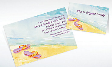 Custom Sandals in the Sand Invitations & Thank You Notes