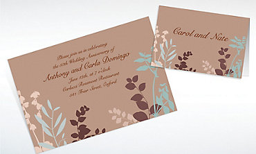 Custom Subdued Silhouette Invitations & Thank You Notes