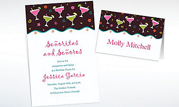 Custom Margarita Fiesta Invitations & Thank You Notes