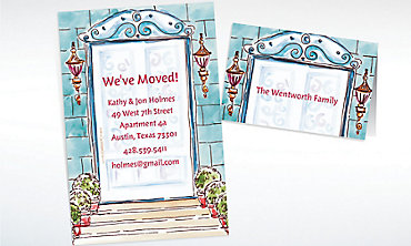 Custom Home Front Door Moving Announcements & Thank You Notes