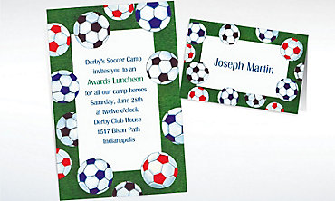 Custom Golf Tee Border Invitations & Thank You Notes