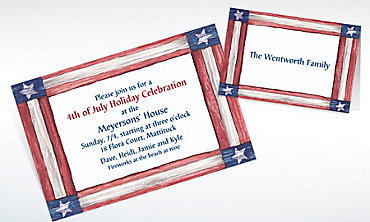 Custom Americana Flag Invitations & Thank You Notes