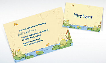 Custom Happy Frogs Baby Shower Invitations & Thank You Notes
