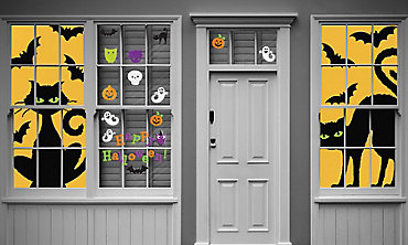 Halloween Clings, Grabbers & Window Decorations