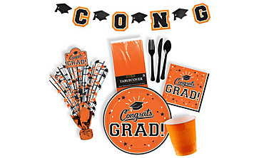 Orange Graduation Party Supplies