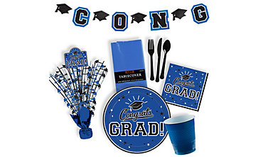 Royal Blue Graduation Party Supplies
