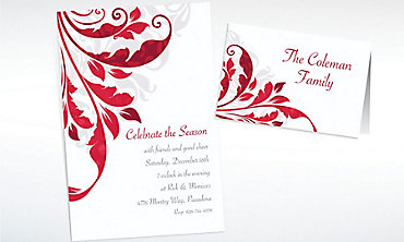 Custom Decorative Scroll Invitations & Thank You Notes