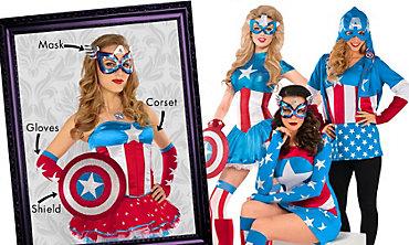 Captain America Mix & Match Women's Looks