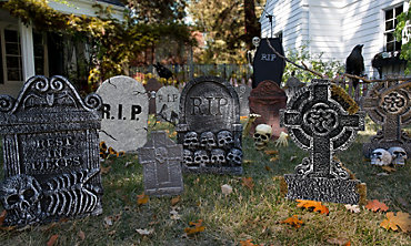 Halloween Tombstones & Cemetery Decorations