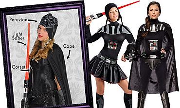 Darth Vader Mix & Match Women's Looks