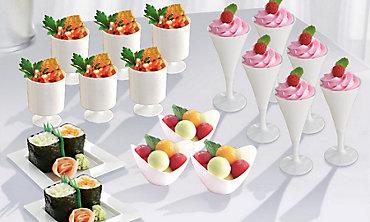 White Mini Tasting Party Supplies