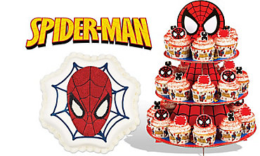 Spider-Man Cake Supplies