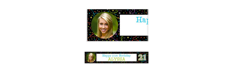 Custom Brilliant 21st Birthday Photo Banner