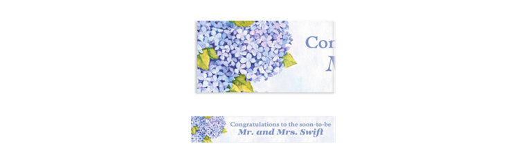 Custom Bundled Hydrangeas Banner