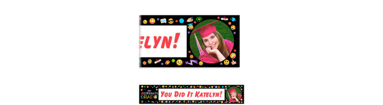 Custom Emoji Graduation Photo Banner