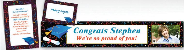 Custom Grad Celebration Invitations & Thank You Notes