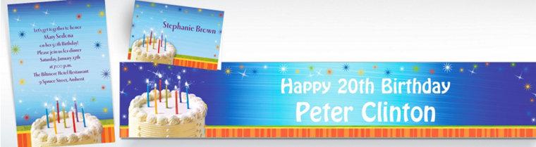 Custom Sparkle Wishes Birthday Invitations & Thank You Notes