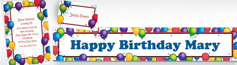 Custom Balloon Fun Birthday Invitations & Thank You Notes