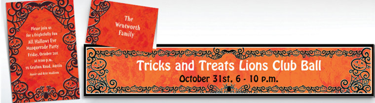 Custom Gothic Greetings Halloween Invitations & Thank You Notes