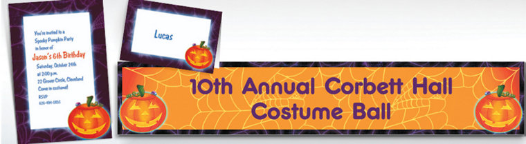 Custom Playful Pumpkin Halloween Invitations & Thank You Notes
