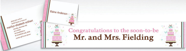 Custom Blushing Bride Bridal Shower Invitations & Thank You Notes