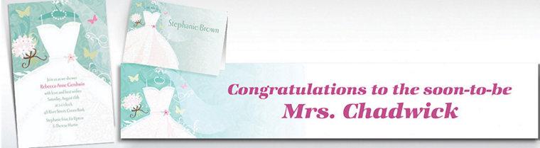 Custom Something Blue Bridal Shower Invitations & Thank You Notes