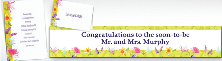 Custom Beautiful Blooms Invitations & Thank You Notes