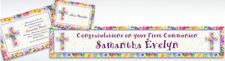 Custom Joyful Blessing Invitations & Thank You Notes