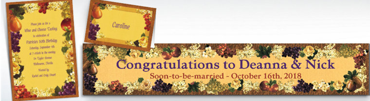 Custom Golden Orchard Invitations & Thank You Notes
