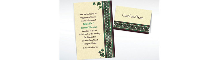Custom Celtic Knot and Clovers St. Patrick's Day Invitations & Thank You Notes