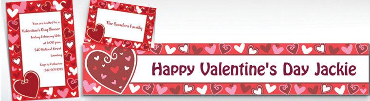 Custom Be Mine Valentine's Day Invitations & Thank You Notes