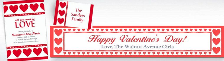 Custom Valentine's Day Invitations & Thank You Notes
