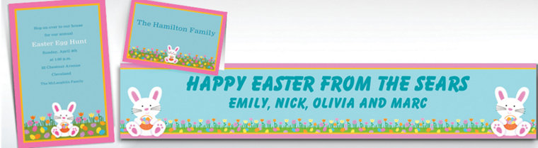 Custom Easter Friends Invitations & Thank You Notes