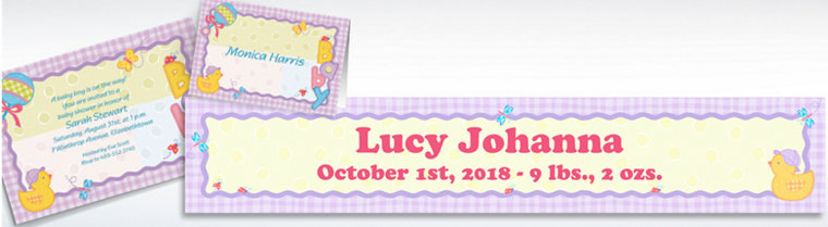 Custom Hugs & Stitches Girl Baby Shower Invitations & Thank You Notes
